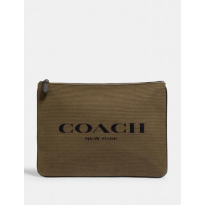 COACH HUDSON LARGE POUCH IN CANVAS WITH COACH PRINT