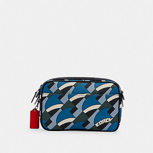 COACH GRAHAM CROSSBODY WITH DECO BRIDGE PRINT (QB/BLUE JAY)