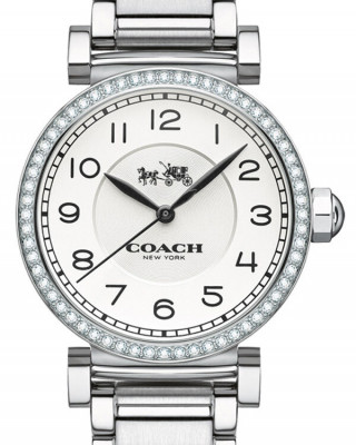 COACH MADISON WHITE DIAL STAINLESS STEEL WOMEN'S WATCH
