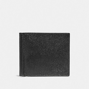 COACH MONEY CLIP BILLFOLD (BLACK)