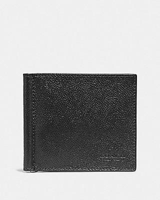 COACH MONEY CLIP BILLFOLD (BLACK)