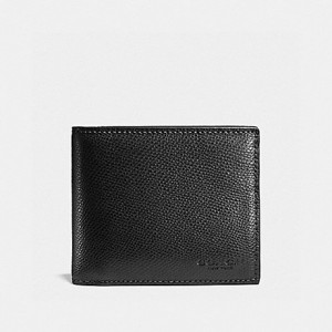 COACH COMPACT ID WALLET (BLACK)