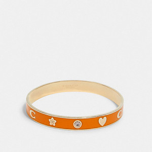 COACH MOTIF BANGLE (GD/SUNBEAM)