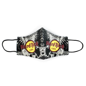 HARD ROCK FACE MASK WITH GUITAR PRINT CAFE LOGO (MULTICOLOR)
