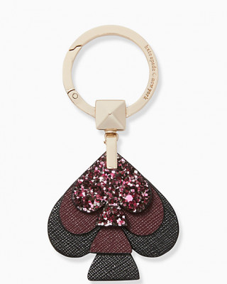 KATE SPADE STACKED SPADE GLITTER (BLACKCHERRY)