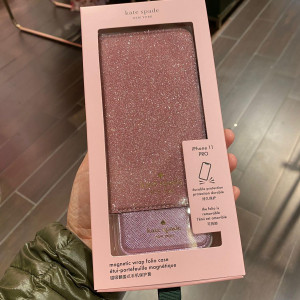 KATE SPADE GLITTER FOLIO IPHONE CASES (ROSE PINK)