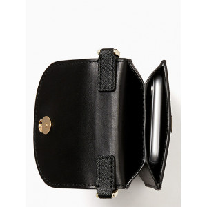 KATE SPADE CAMERON NORTH SOUTH FLAP PHONE CROSSBODY (BLACK)