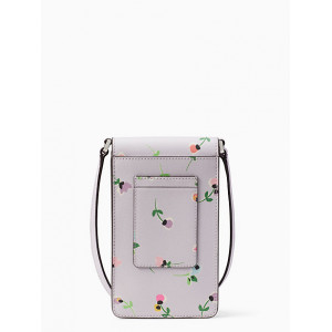 KATE SPADE CAMERON WILDFLOWER DITSY NORTH SOUTH PHONE CROSSBODY (PURPLE MULTI)