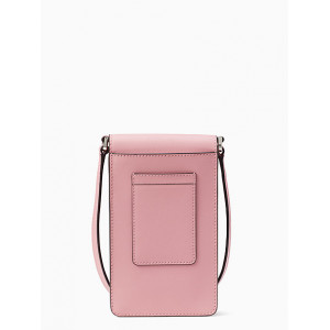 KATE SPADE MONOTONE NORTH SOUTH FLAP PHONE CROSSBODY (BRIGHT CRNTN)