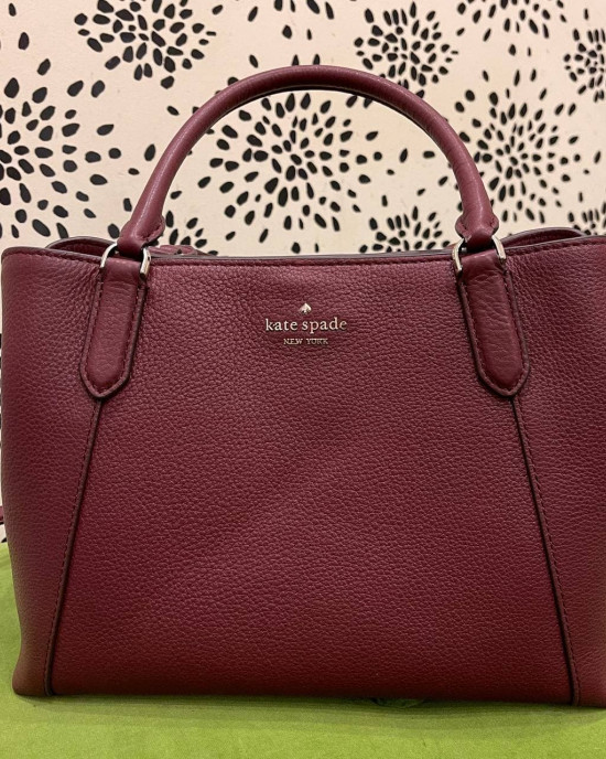 KATE SPADE JACKSON MEDIUM SATCHEL (CHERRY WOOD)