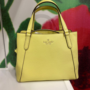 KATE SPADE JACKSON MEDIUM TRIPLE COMPARTMENT SATCHEL (LIME LIGHT)