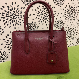 KATE SPADE EVA SMALL TOP ZIP SATCHEL (CHERRYWOOD)