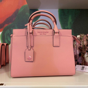 KATE SPADE CAMERON MONOTONE MEDIUM SATCHEL (BRIGHT CARNATION)