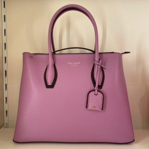 KATE SPADE EVA SHADOW ANCHOR MEDIUM TOP ZIP SATCHEL (PINK MAUVE MULTI)