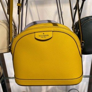 KATE SPADE SYLVIA X-LARGE DOME CROSSBODY (VBRNT CANARY)