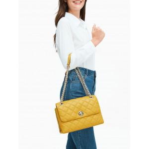 KATE SPADE NATALIA MEDIUM FLAP SHOULDER BAG (GOLDEN YARROW)