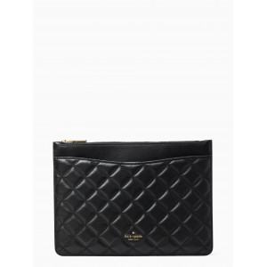 KATE SPADE NATALIA LARGE ZIP POUCH (BLACK)