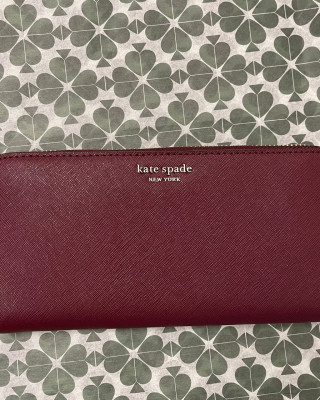 KATE SPADE CAMERON LARGE CONTINENTAL WALLET (CHERRYWOOD)