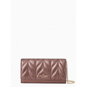 KATE SPADE BRIAR LANE QUILTED MILOU (METALLIC OAK)