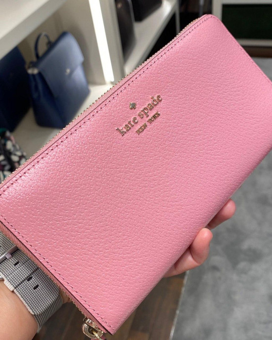 KATE SPADE SAM LARGE CONTINENTAL WALLET (BRIGHT CARNATION)